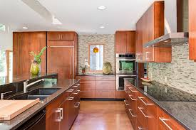 Warm Modern Kitchen - contempo casual a modern house in the woods makes living easyc