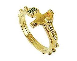 rosary ring rosary ring etsy