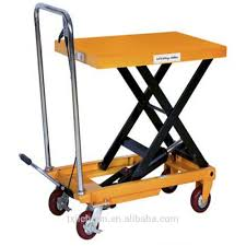 high quality 1 ton hydraulic scissor lift table cart with one year