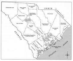 Map Of Sc Counties Election Districts Of 1778