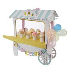Carriage Centerpiece Cream Cart Centerpiece
