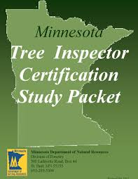 minnesota tree inspector certification study manual u0026 practice