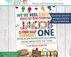 fish birthday party etsy