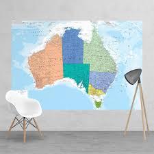 map mural wall map of australia wallpaper mural 158cm x 232cm