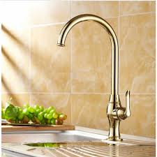 kitchen faucet brass gold finish kitchen faucet brass water tap smooth neck