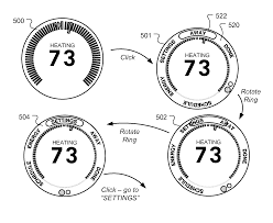 patent us8195313 thermostat user interface google patents