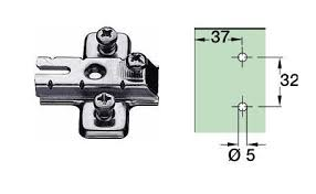 kitchen cabinet hinge mounting plates and mounting plate unsprung 35mm cup 110 degrees