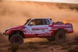 baja truck racing honda ridgeline baja race truck conquers baja 1000 with class victory