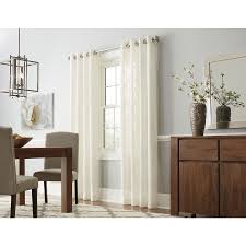 shop curtains drapes at lowes com allen roth amesmore polyester grommet light filtering single curtain panel