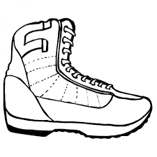 army boot colouring pages to print for boy