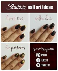 easy peasy sharpie nail art yes missy a lifestyle blog