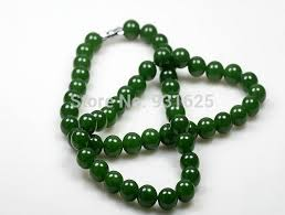 real stone necklace images Beautiful 10mm real green jade charming link necklace natural jpg