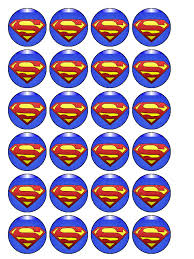 superman cake toppers superman cupcake topper pack of 30
