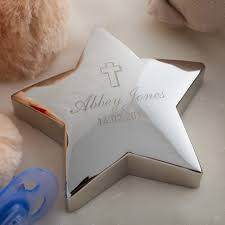 Baptism Engraved Gifts Engraved U0027christening Cross U0027 Silver Star Paperweight Engraved