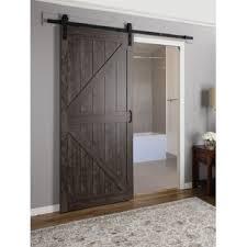 Indoor Closet Doors Continental Mdf Engineered Wood 1 Panel Interior Barn Door Jpg
