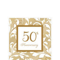 50th anniversary plates golden 50th wedding anniversary party supplies 50th anniversary