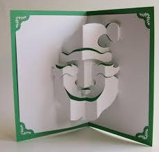 santa claus christmas pop up card home décor 3d handmade cut