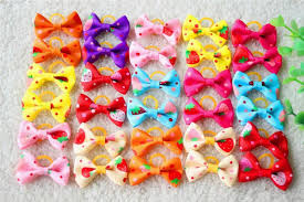 hair bows wholesale new various style pet dog bows pet hair bows rubber bands dog bow