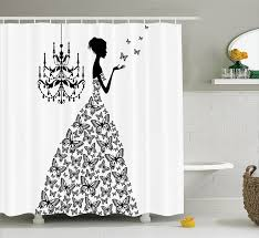 amazon com fabric shower curtain by ambesonne love home decor