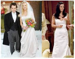 cox wedding dress geller wedding dress courteney cox to fiance johnny