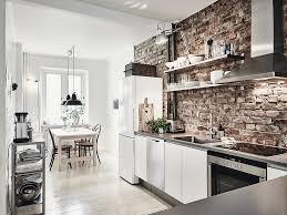 cuisine avec brique cuisine un interieur nordique et brut mademoiselle claudine le