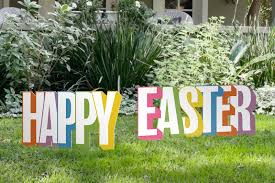 Outdoor Easter Yard Decorations by Happy Easter Yard Sign Outdoor Nativity Store