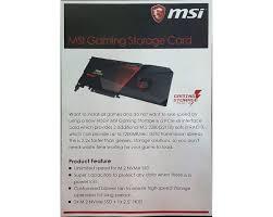 msi demos prototype hybrid storage card m 2 u0026 2 5 u201d sata on a pcie
