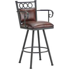 Bar Stool With Arms Waterson Padded Back Swivel Bar Stool With Arms Free Shipping