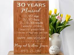 30 year anniversary gift ideas anniversary gift 30 year anniversary 30 anniversary gift