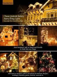 Battery String Lights With Timer by Amazon Com Qedertek 2 Pack Battery Christmas Lights 20ft 8