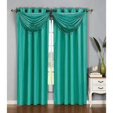 Turquoise And Curtains Turquoise Curtains Drapes Window Treatments The Home Depot