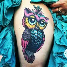 30 Wonderful Colorful Owl Tattoos Ideas Owl Coloring Ideas