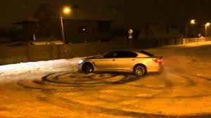 lexus ls400 vs audi a8 lexus ls 600hp snow drift youtube