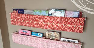 Fabric Sling Bookshelf Bookshelves Diy Sling Book Display Ideas Tutorial On Sewing