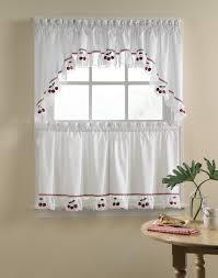 curtain interior country red kitchen curtains within charming