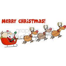 santa sleigh and reindeer royalty free 3003 christmas santa sleigh and reindeer 380265
