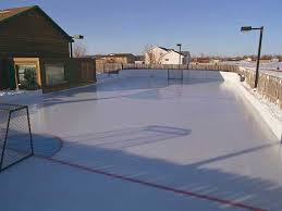 Backyard Ice Skating by Backyard Synthetic Ice Hockey Rink Liners Rink Chillers Rink