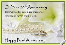 Happy Wedding Anniversary Cards Pictures Pearl Anniversary Wishes Free Milestones Ecards Greeting Cards