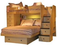Twin Over Full Space Saver With Chest And Stairs Bedroom - Space saver bunk beds