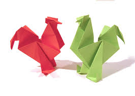 easter origami rooster hen tutorial how to make an origami