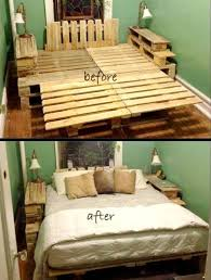 Diy Wood Projects Pinterest by Best 25 Pallet Bed Frames Ideas On Pinterest Diy Pallet Bed