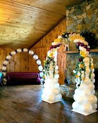 Wedding Arches Columns 185 Best Wedding Balloon Decorations Images On Pinterest Wedding