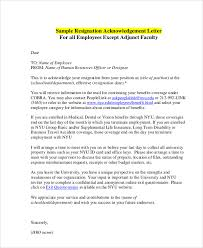 Acknowledgement Letter Request sle resignation acceptance letter 6 exles in pdf word