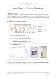 Hanging Art Height Art Gallery Display System