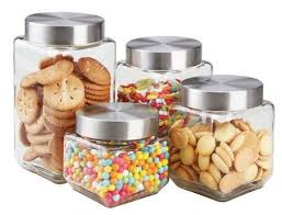 clear glass canisters for kitchen 12 best clear glass kitchen jars w lids square and stackable