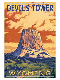 Wyoming travel posters images 160 best devils tower national monument images jpg