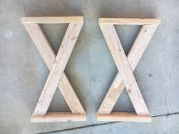 rustic x console table diy rustic x leg console table with plans anika s diy life