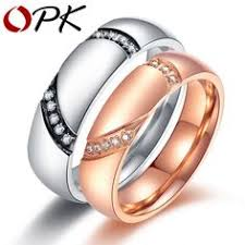 bluelans wedding band ring stainless steel matte ring ajojewel simple designer hollow out ring without
