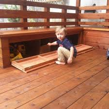 deck with built in seating and table outside pinterest