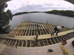 building a deck on lake of the woods youtube